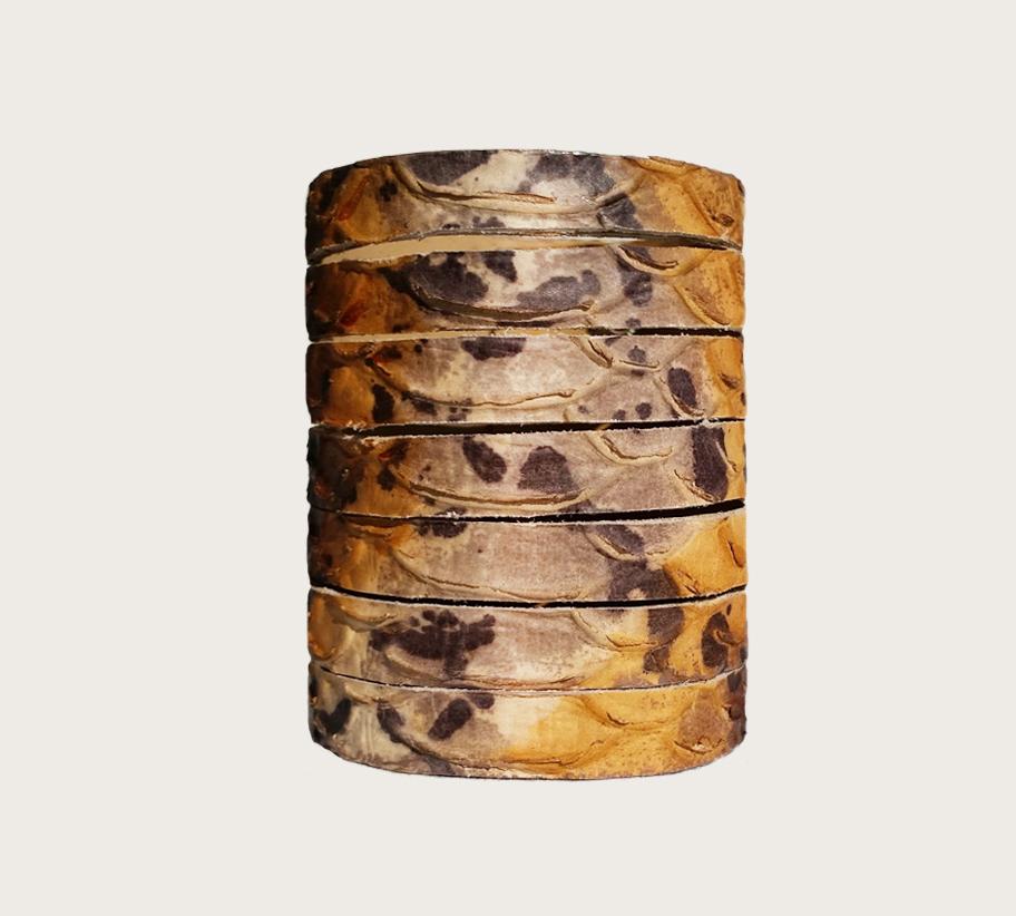 KPY-11 python 7részes mandzsetta bőr karkötő