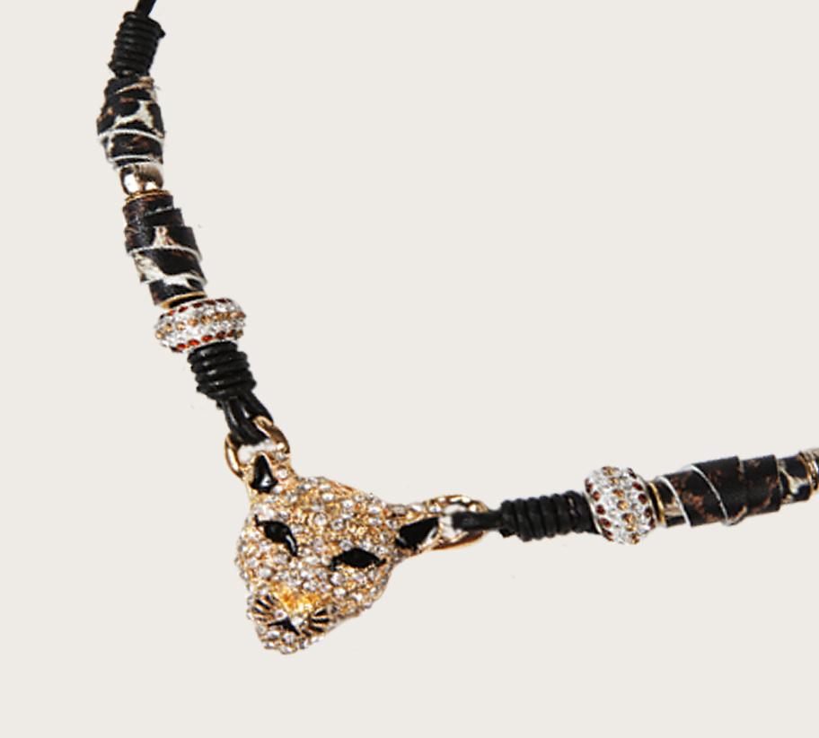 NYN--14 kristályos tigrisfej nyakék