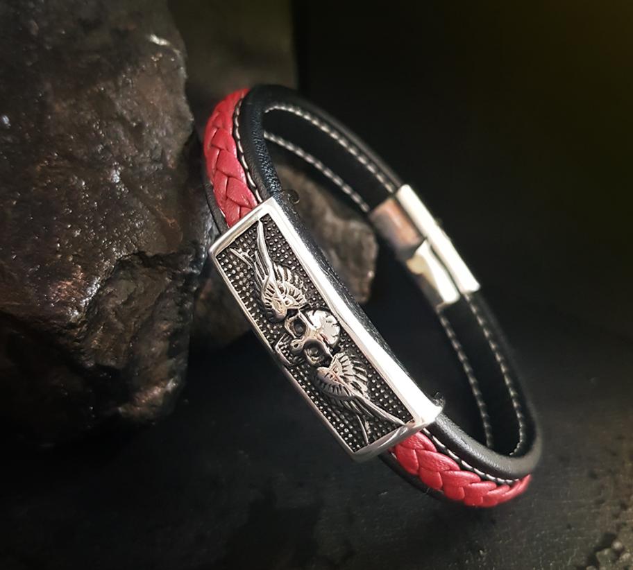 piros skull karkötő2
