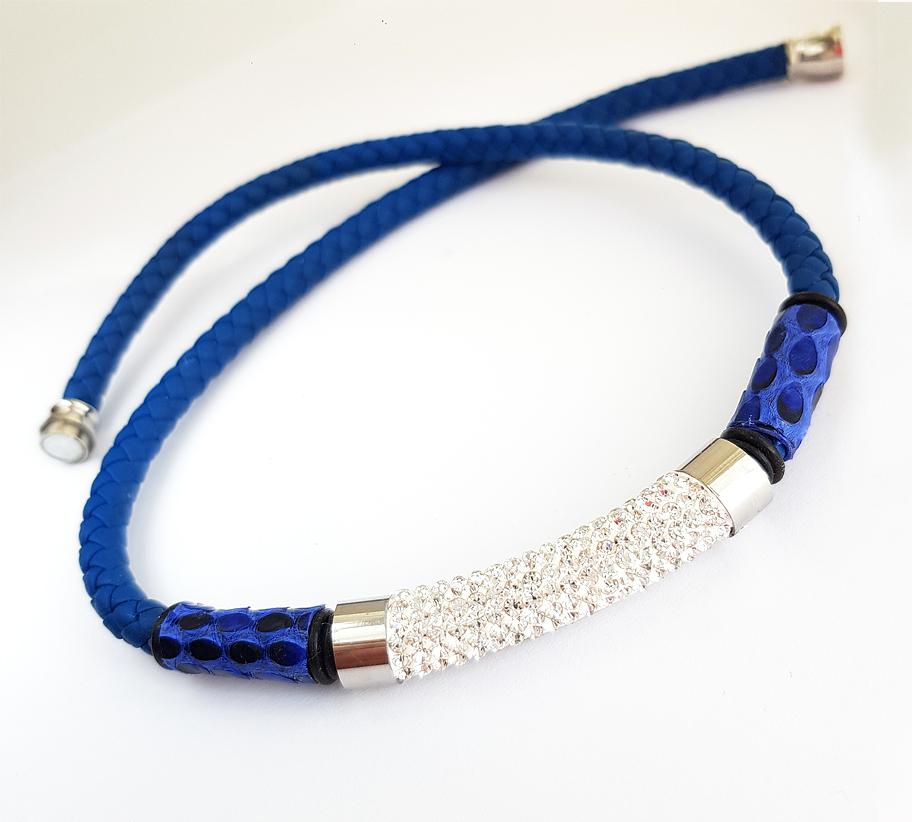 kékzsinóros strasszos